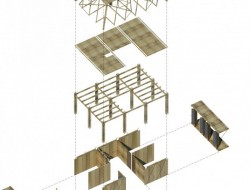 Blooming Bamboo - Axonometric Projection