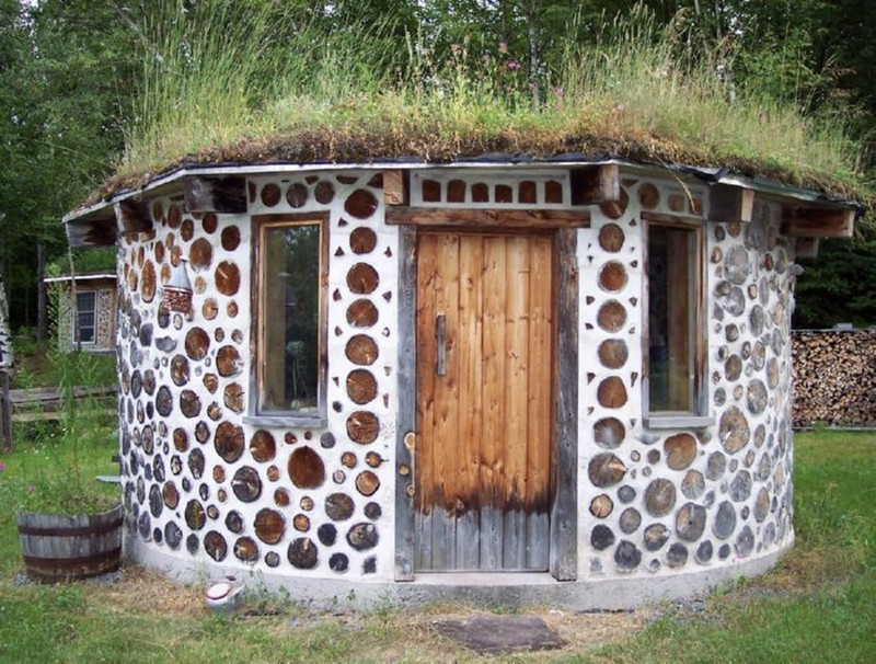 Cordwood Construction Insulation : One building technique with many names the owner builder