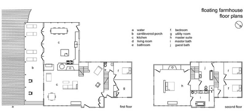 Floating Farmhouse - Floor Plans