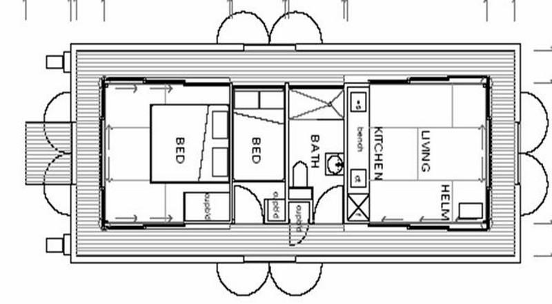 Arkiboat Houseboats - Plan 1