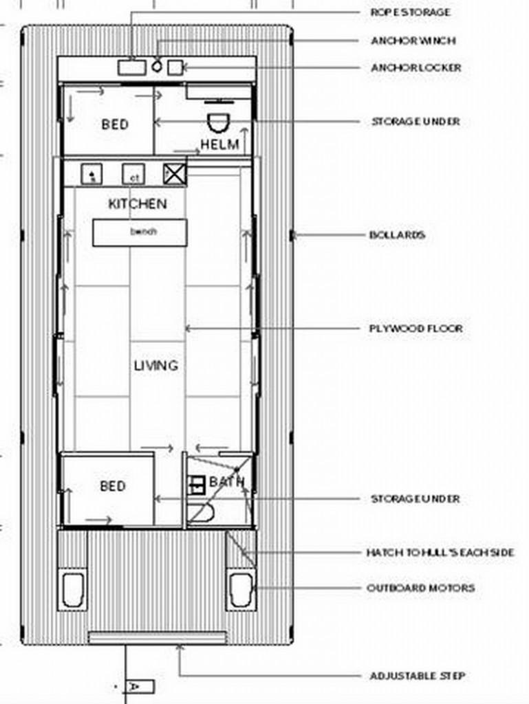 Arkiboat Houseboats - Plan 5