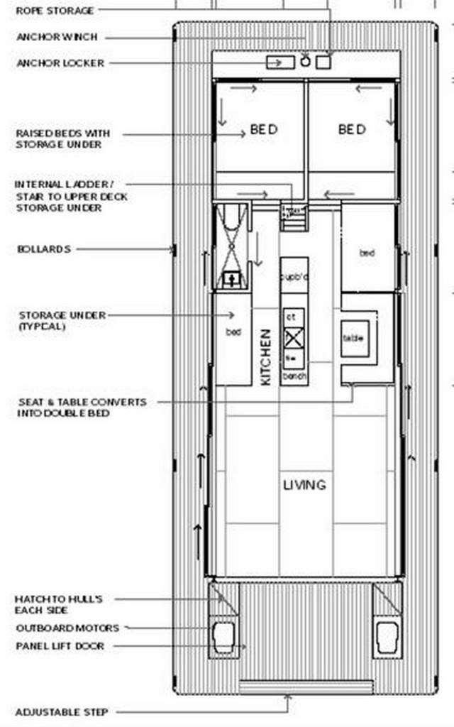 Arkiboat Houseboats - Plan 6