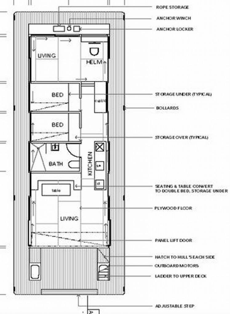 Arkiboat Houseboats - Plan 7