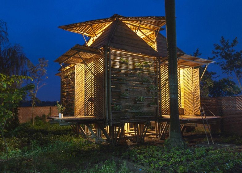 These homes are designed to float above the regular flooding that occurs in parts of Vietnam.