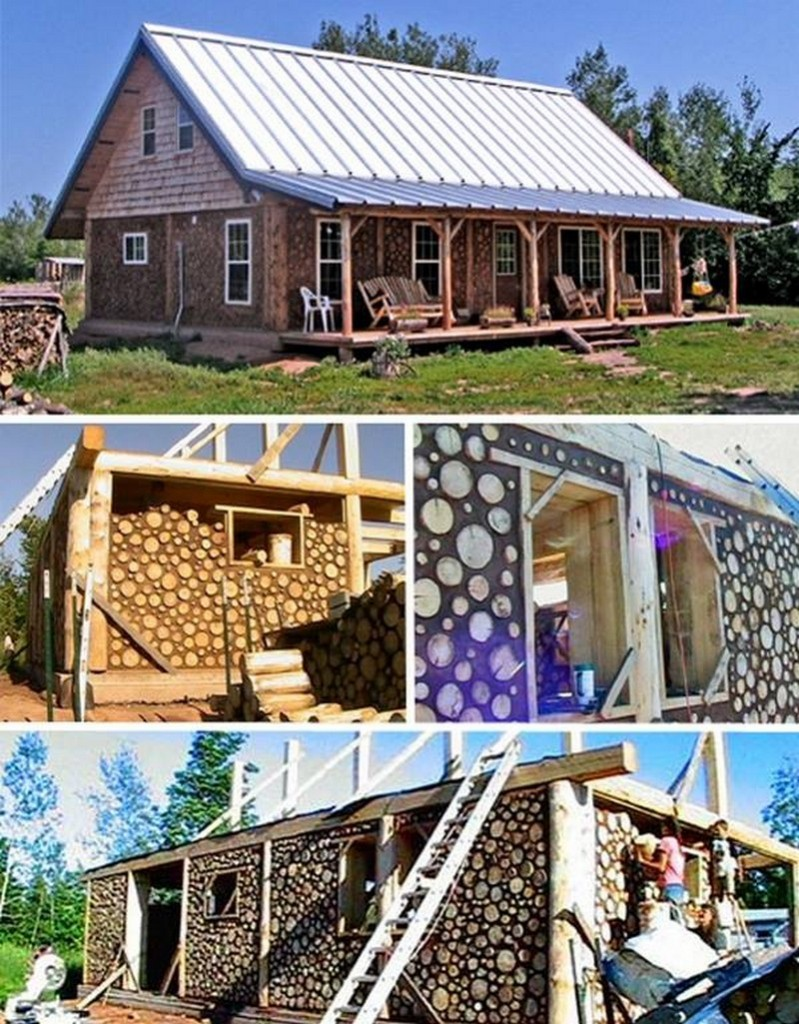 In case you missed it the other day, we have a brand new album on a building technique that has many names - cordwood masonry, cordwood construction, stackwall, log-end, stovewood or stackwood.