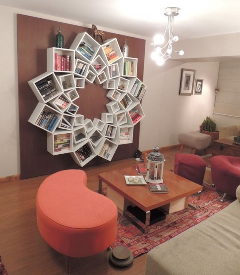 Veronica's One-of-a-Kind Mandala Bookshelf - Apartment Theraphy