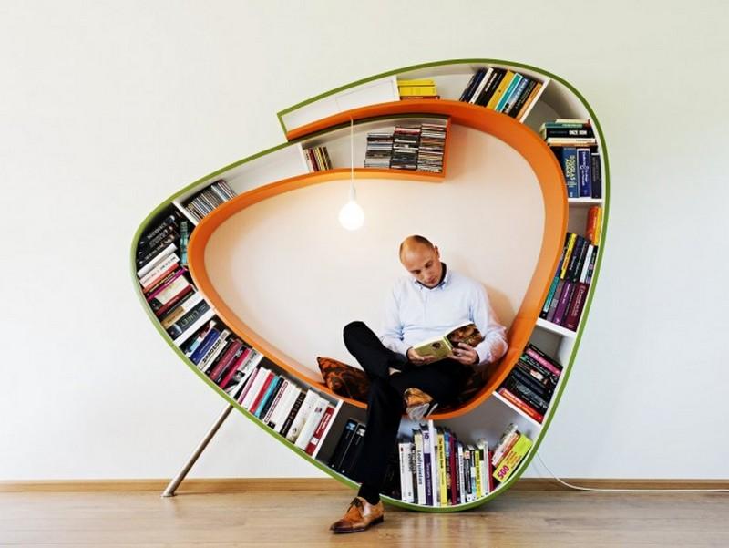 The Seated Bookshelf   Homedit Nice Ideas