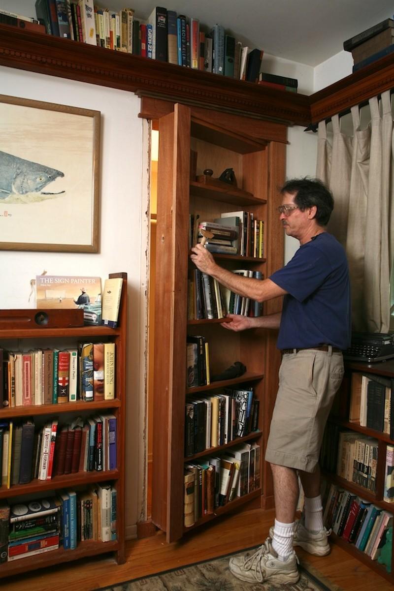 how to build a hidden bookshelf door the network