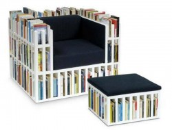 Chair That Double As A Bookshelf - Geekologie