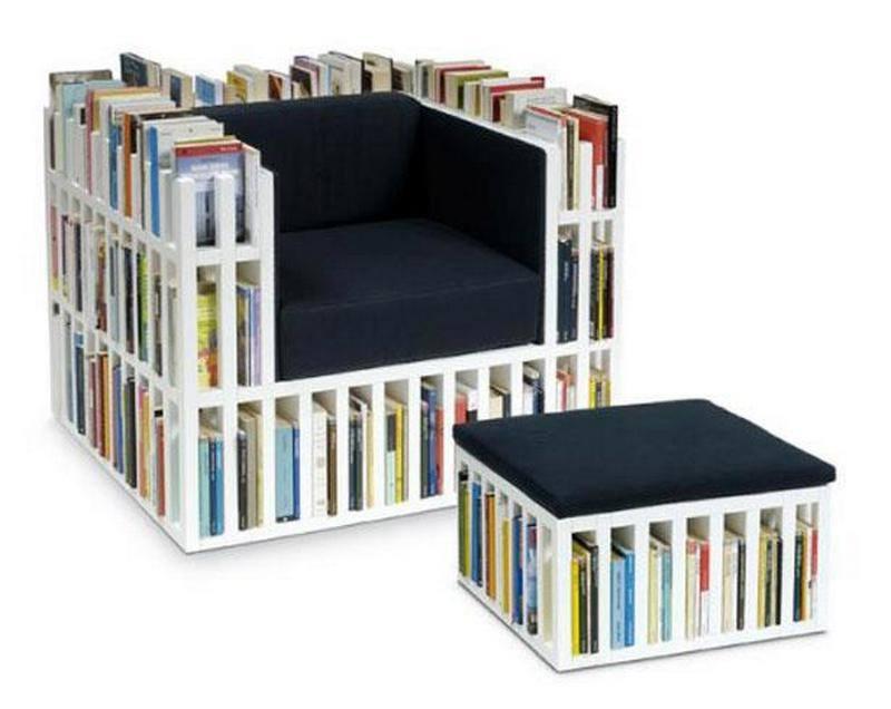 Chair That Double As A Bookshelf - Geekologie