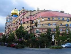 Forest Spiral - Hundertwasser Building by Heinz M. Springmann - Darmstadt, Germany