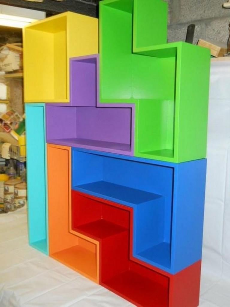 DIY Tetris Bookshelves - The Owner-Builder Network