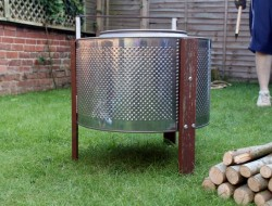 Home Made Fire Pit: Up-cycled Washing Machine!