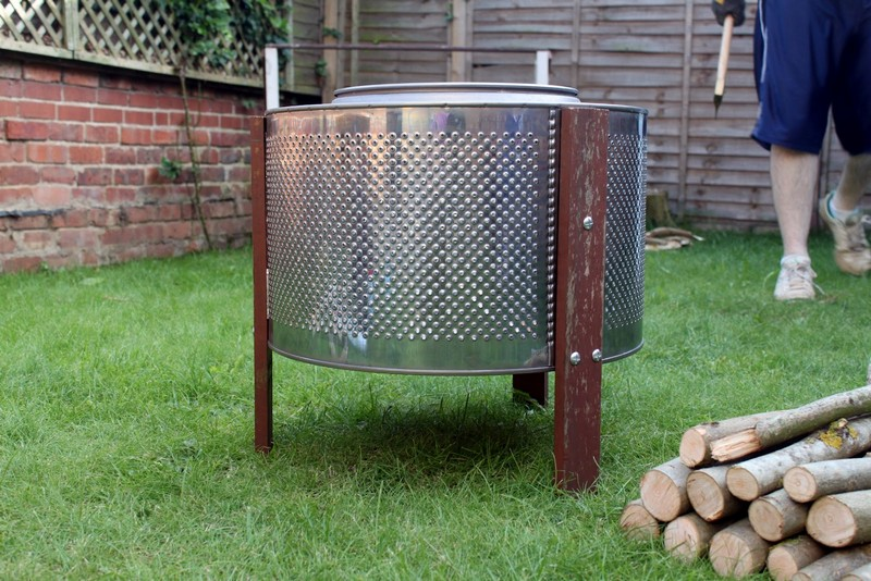 Home Made Fire Pit: Up-cycled Washing Machine! - From Washing Machine To Fire Pit The Owner-Builder Network