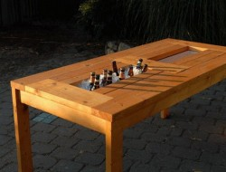 DIY Patio Table with Built-in Beer/Wine Coolers