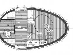 Floating Egg-Shaped Office - Plan 5