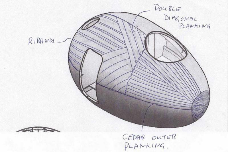 Floating Egg-Shaped Office - Sketch 2