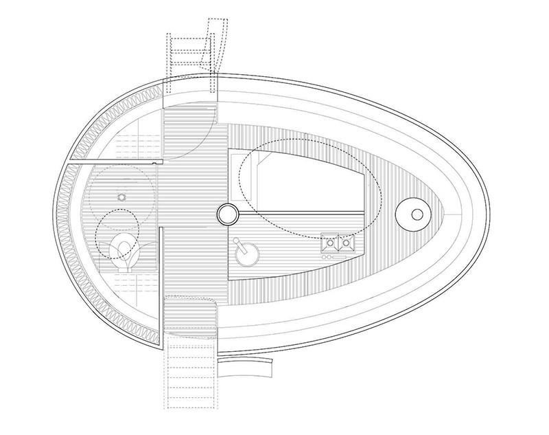 Floating Egg-Shaped Office - Plan 2