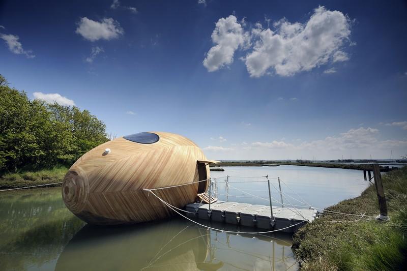 Floating Egg-Shaped Office - Hampshire, UK