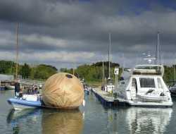 Floating Egg-Shaped Office - Hampshire, UK