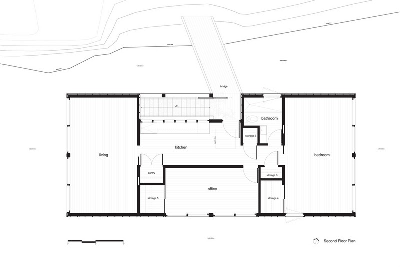 Floating House   Second Floor Plan