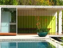Shipping Container Pool Room