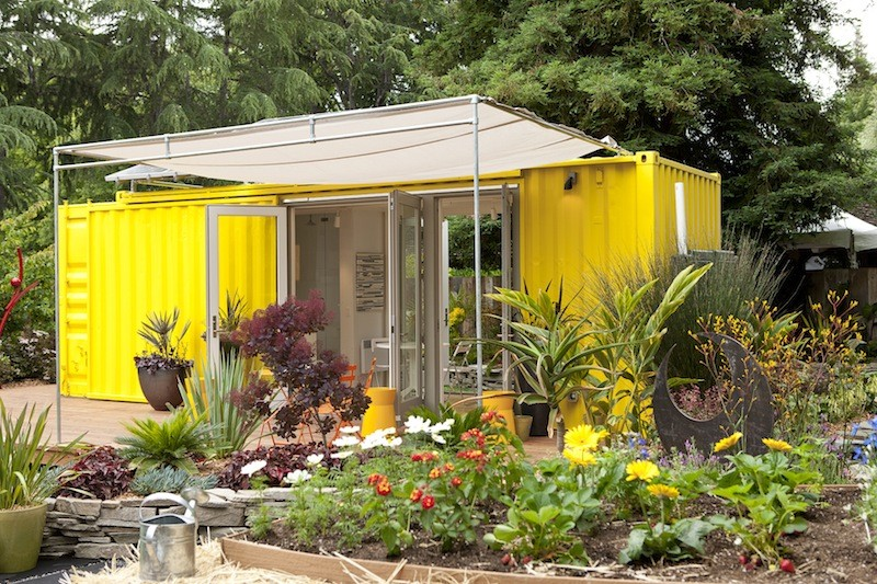 Storage Container Garden Designs