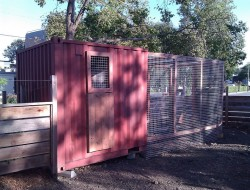 Shipping Container Chicken Coop