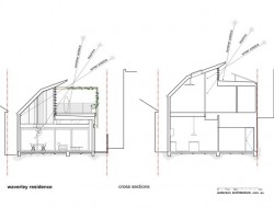 Waverley Residence - Cross Section