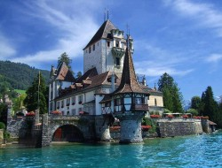 Lake Thun by Tuatha - Spiez Castle, Switzerland