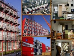Keetwonen is in Amsterdam. It's the largest container city in the world. It's just another example of how containers can provide low cost housing - in this instance for students.