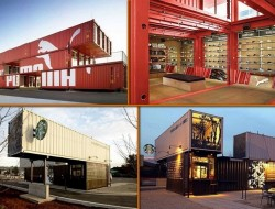 Recycled shipping containers aren't just used to build economical housing. Some of the big brands, like Puma and Starbucks, have used them to build eco-friendly stores.