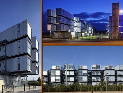 Paris Student Accomodation - 100 x 40ft containers