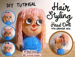 Plastic Bottle Hairstyling Doll - Handmade Charlotte