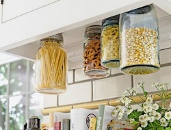 14. Hanging Mason Jar Storage - HGTV