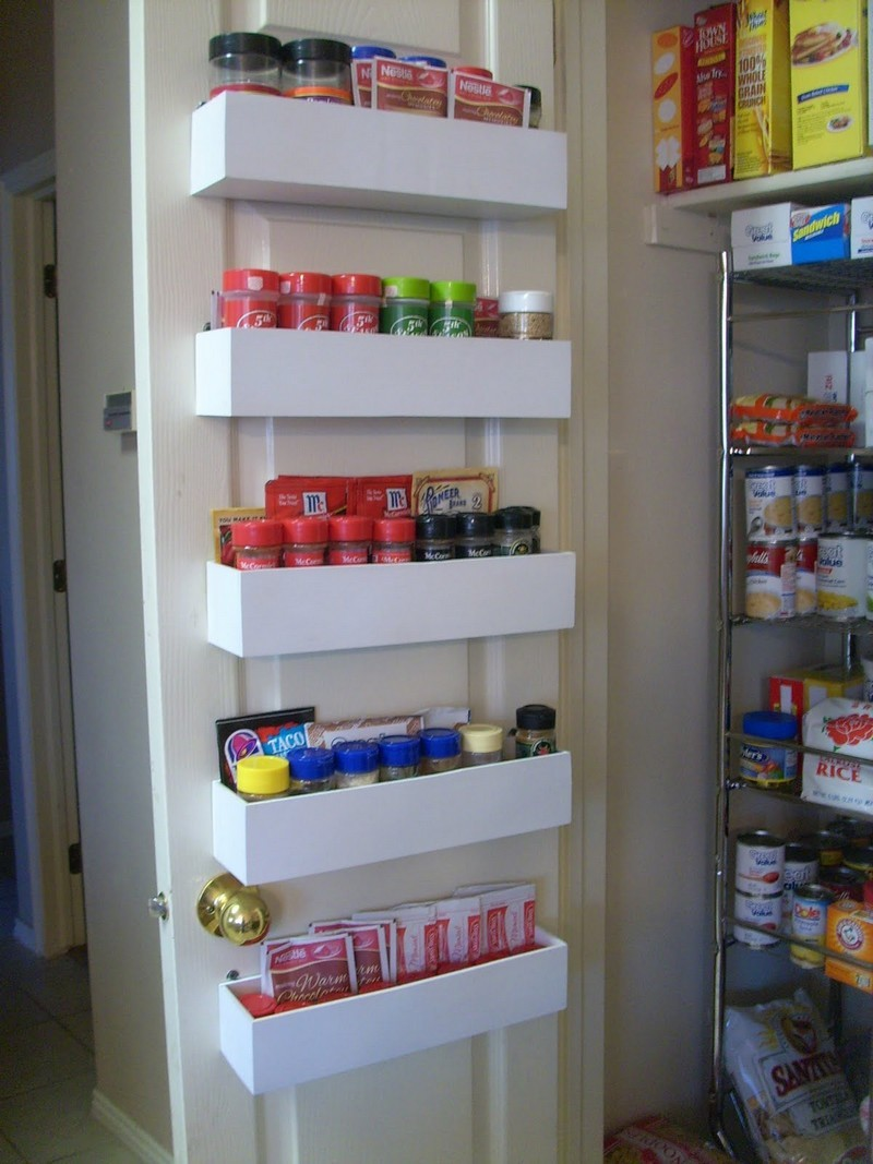 diy pantry door spice racks the owner builder network - Diy Kitchen Pantry Ideas