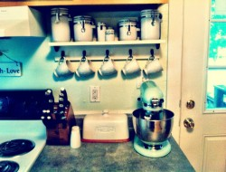 4. Kitchen Shelf with Hooks - Etsy