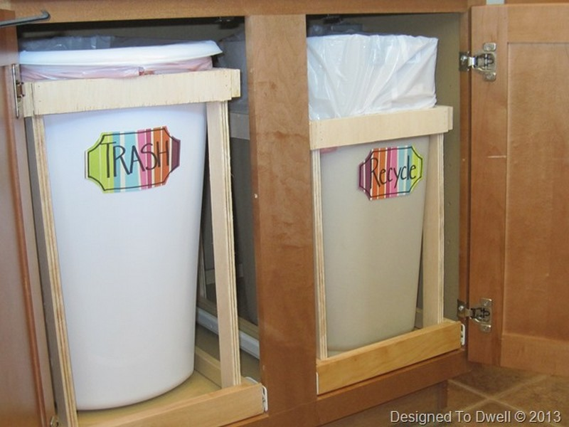 Diy Pull Out Trash Cans Designed To Dwell