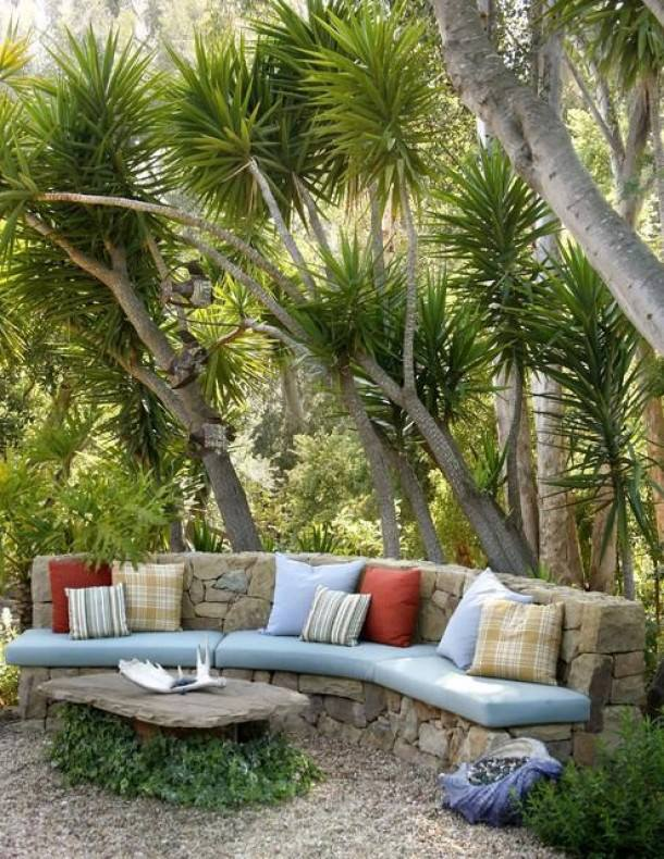 Outdoor furniture created from stone. What do you think of the idea?