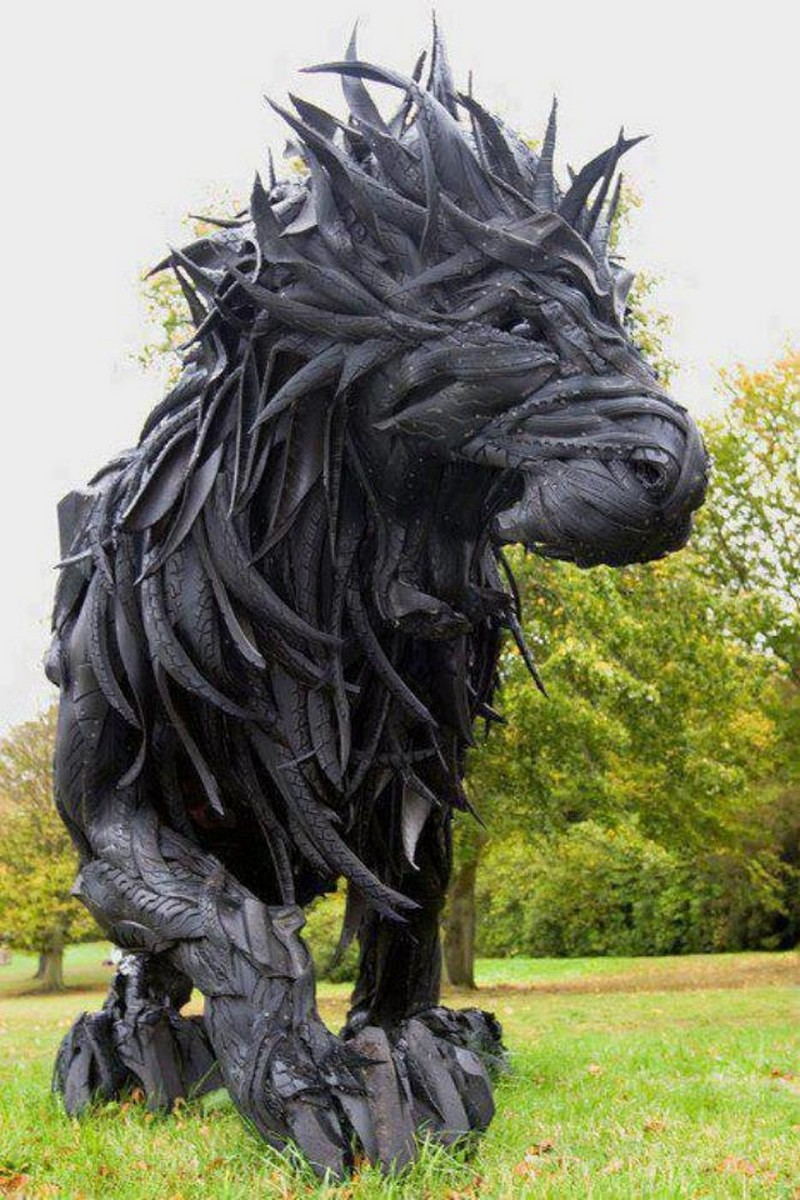 Trash imagination sculptured excellence - What can you do with old tires ...