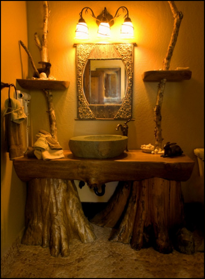 Rustic Vanity Sink : Rustic Bathrooms