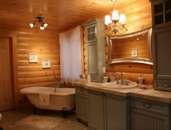 Log Homes Bathroom - Timber Block