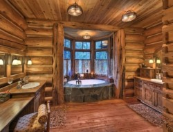 Rustic Bathroom Types - Interior Sign Design
