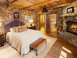 This bedroom has 'rustic' written all over it. If you were to redesign it, what changes would you make?