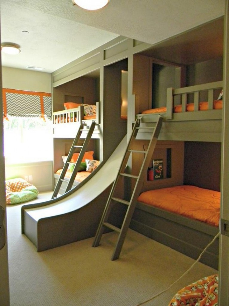 Is it more fun getting up or coming down? Can you imagine the sleep-overs?
