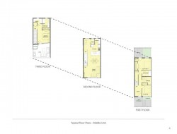 Harborview Townhouses - Typical Floor Plans - Middle Unit
