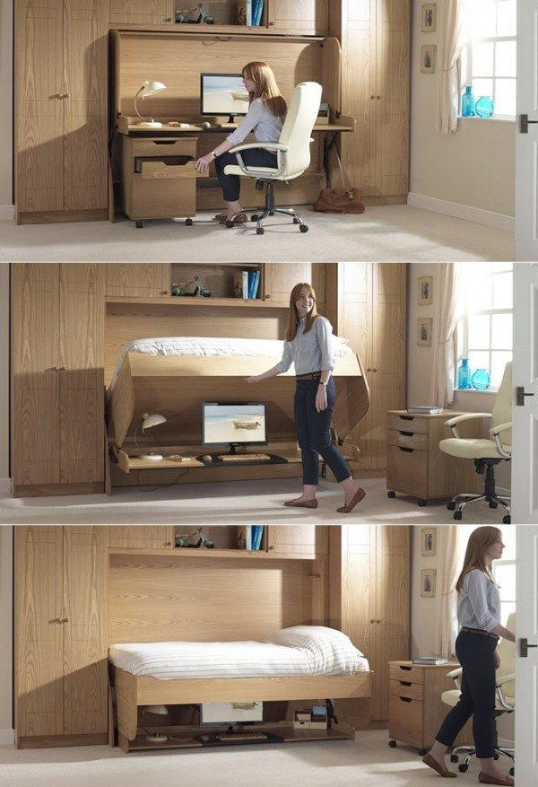 Murphy bed with desk by StudyBed UK