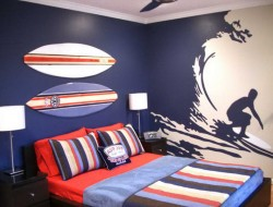 Surfing Teenage Boys Bedroom