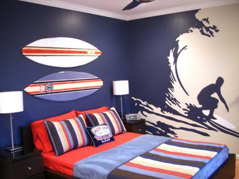 Surfing Teenage Boys Bedroom