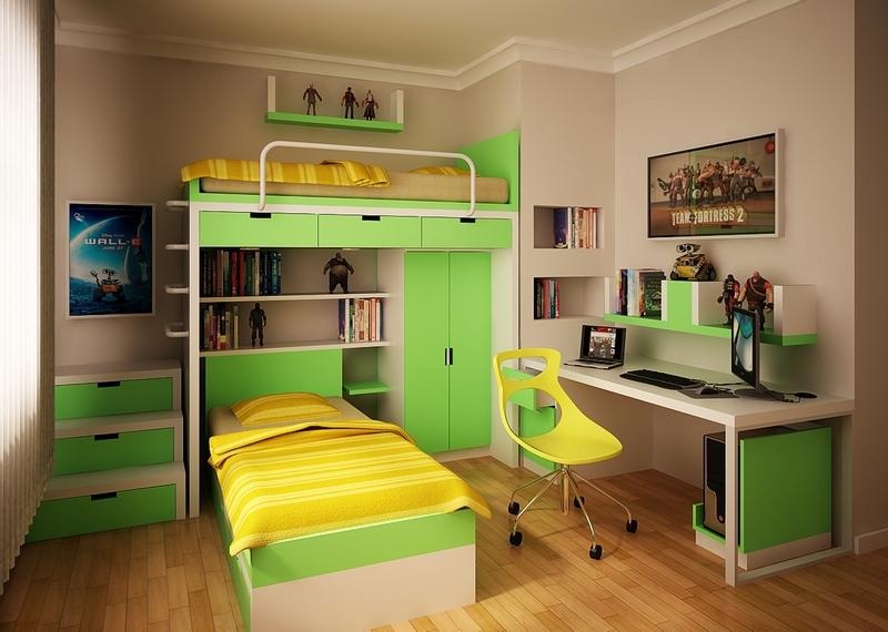Shared Teenage Boys Bedroom